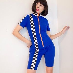 Blue dolls kill track suit onsie